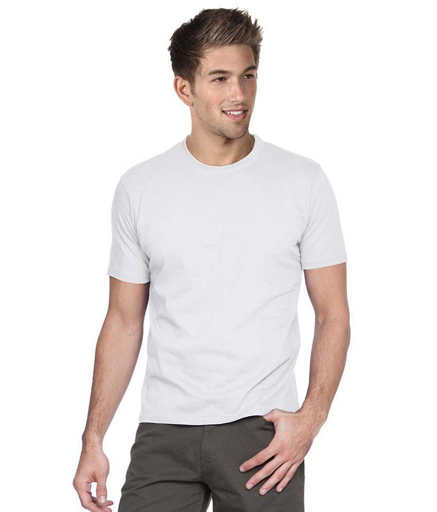 Cool Kolors White Cotton Round T-shirt
