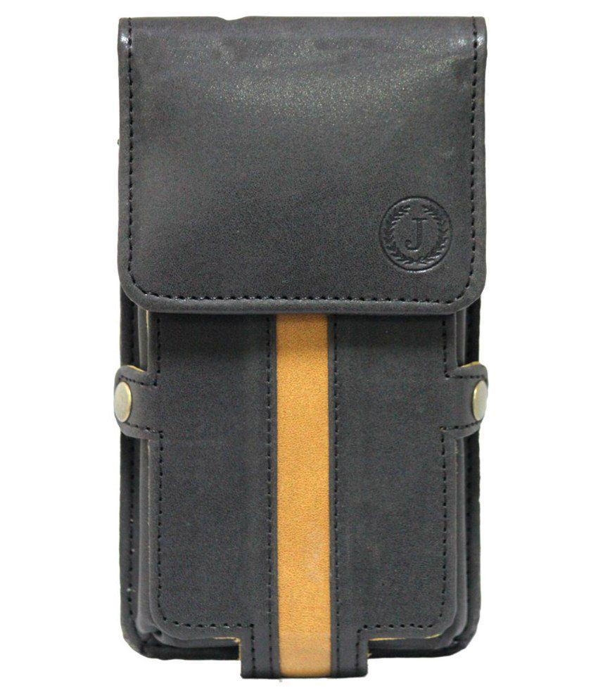 Jo Jo Leather Mobile Pouch For Acer Liquid Z220-black