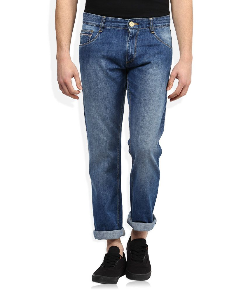 John Player Blue Medium Wash Slim Fit Jeans