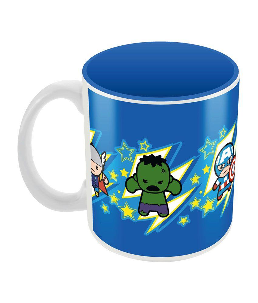 Marvel Avengers Team Kawaii Officially Licensed Mug - Blue