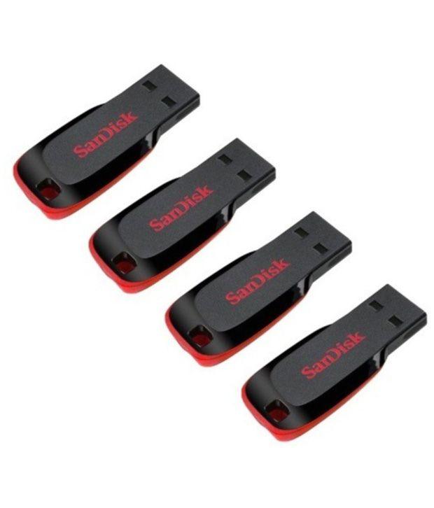 Sandisk Cruzer Blade 16gb Pen Drive - Pack Of 4