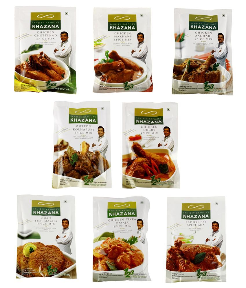 Chef Sanjeev Kapoor Khana Khazana Rtc Non Veg Pack Of 8 Buy Chef Sanjeev Kapoor Khana Khazana Rtc Non Veg Pack Of 8 At Best Prices In India Snapdeal