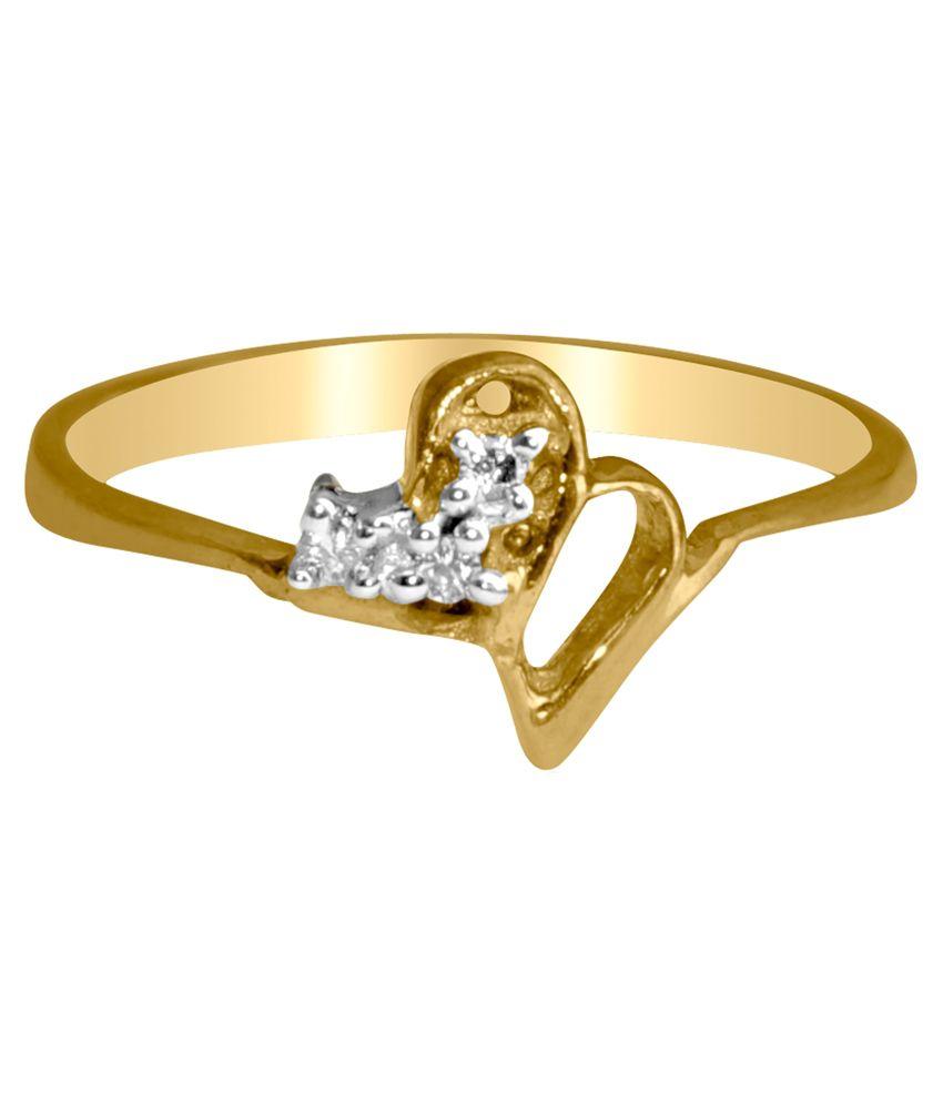 Gvj 18kt Gold Contemporary Hallmarked Round Ring