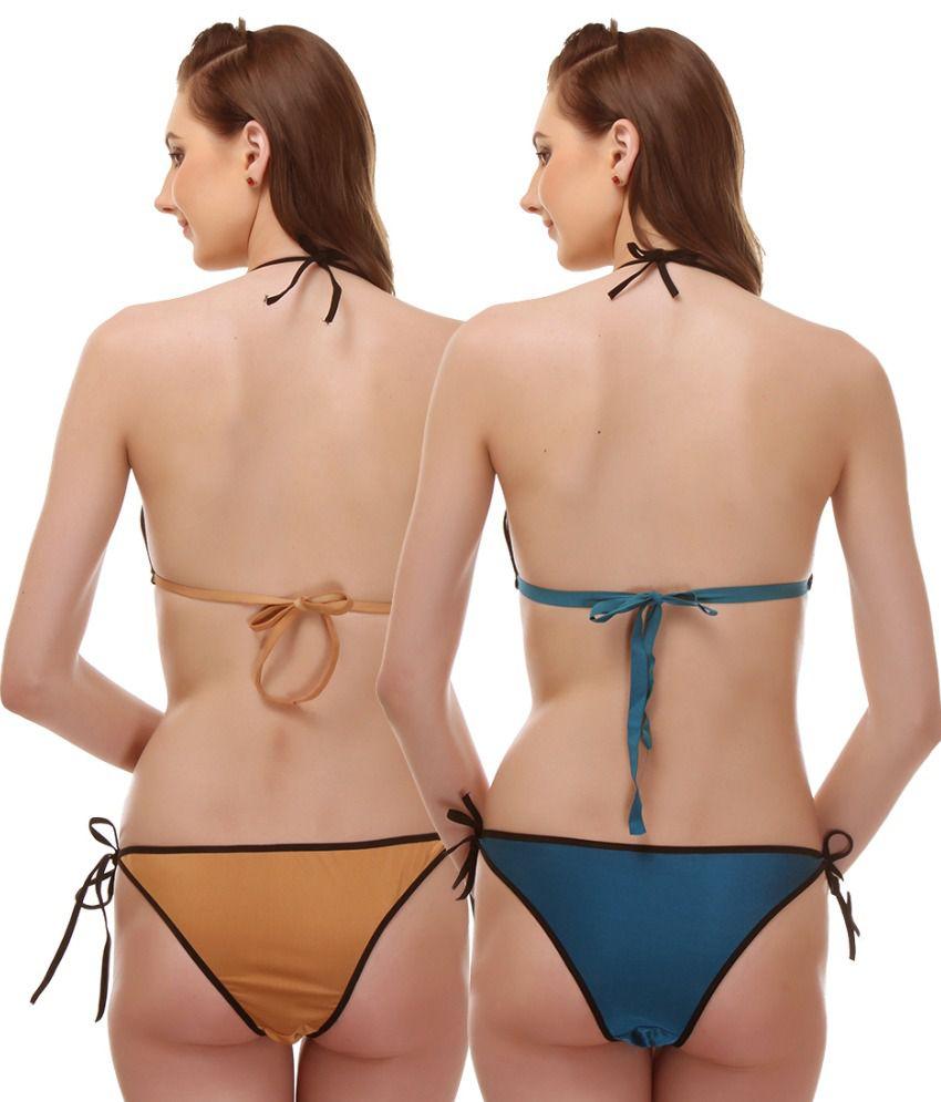a98c14999ce3c Buy Aruba Multi Color Poly Satin Bra   Panty Sets Pack of 2 Online ...