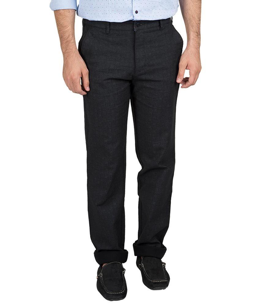 British Club Beige Slim Fit Casual Flat Trousers