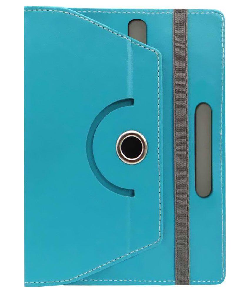 Gadget Decor Flip Cover For Iball Slide 7236 - Blue