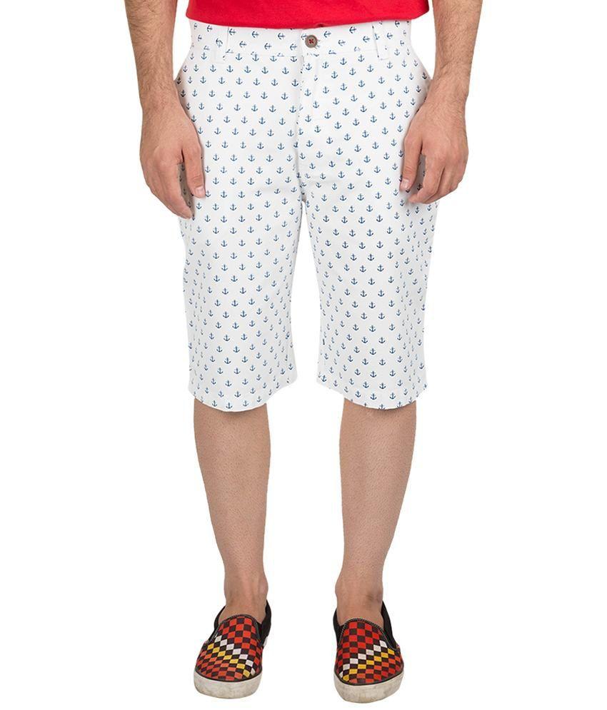Nature White Cotton Shorts
