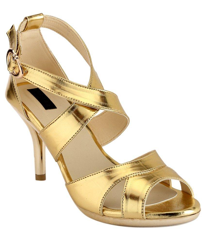 Payless Gold Heeled Sandals