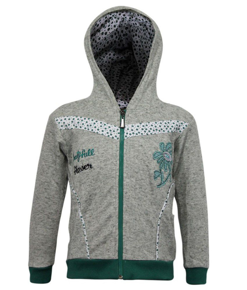 Kothari Grey Fleece Sweatshirt With Hood