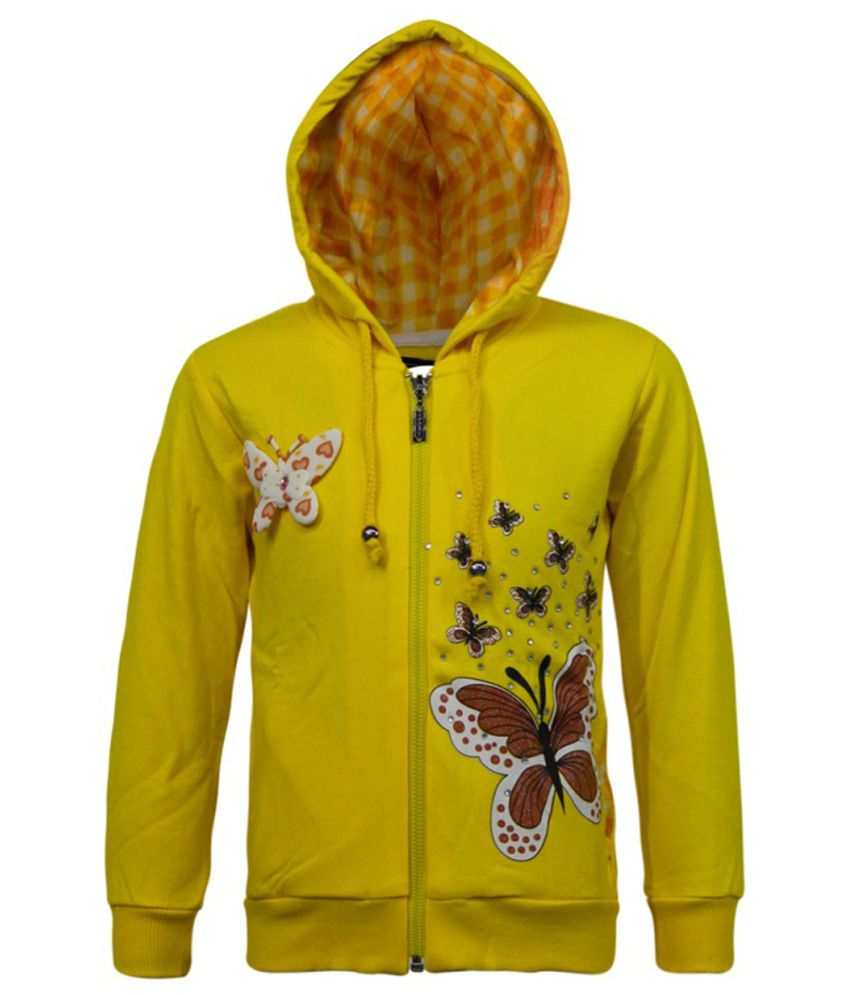 Kothari Yellow Fleece Sweatshirt With Hood