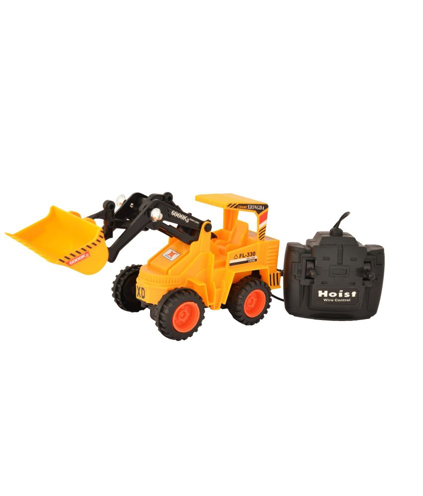 Rana Traders Rana Traders Yellow Remote Control Diecast Construction Equipment Yellow Jcb Small R/c Car