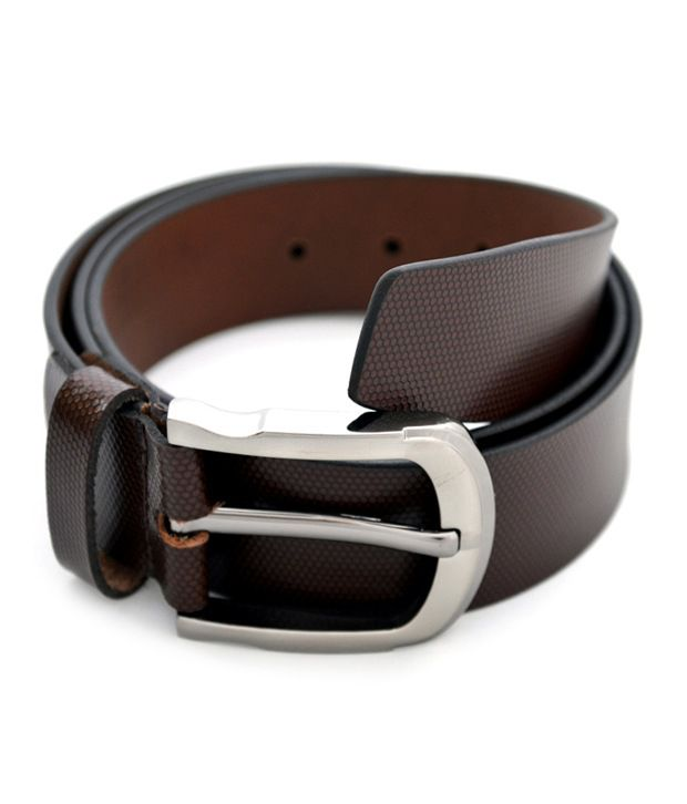 Urban Diseno Brown Leather Belt For Men