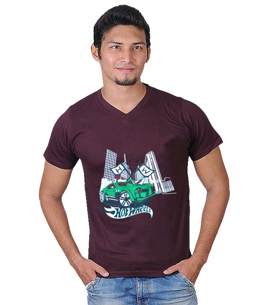Force Maroon Cotton T-shirt