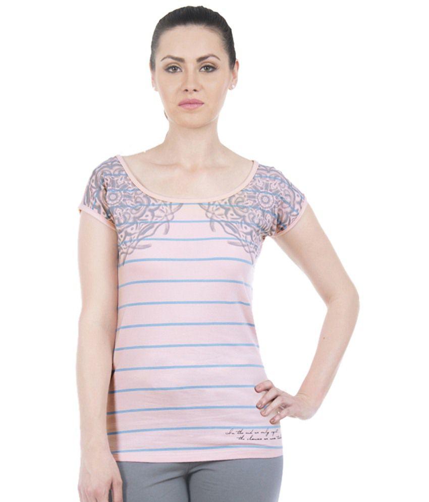 Douspeakgreen Pink & Blue Muladhara Chakra Yoga Top