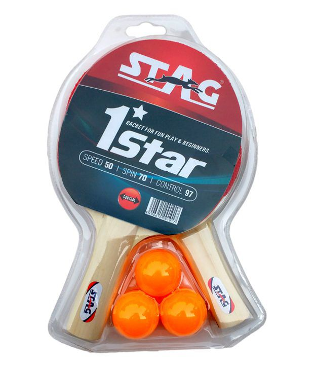 Stag 1 star table tennis play set 2 rackets 3 balls for 1 star table tennis balls