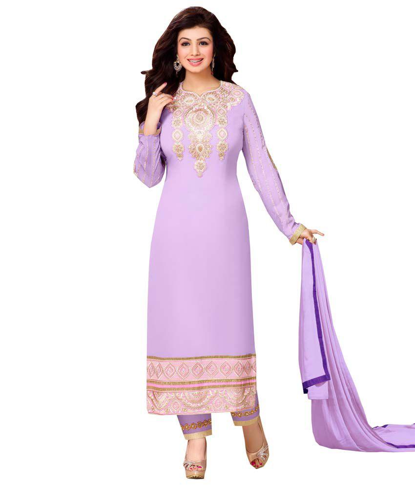 c2cc50520c Vishnupriya Fabs Purple Georgette Semi Stitched Dress Material - Buy  Vishnupriya Fabs Purple Georgette Semi Stitched Dress Material Online at Best  Prices in ...