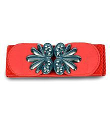 Victoria Red Casual Buckle For Women