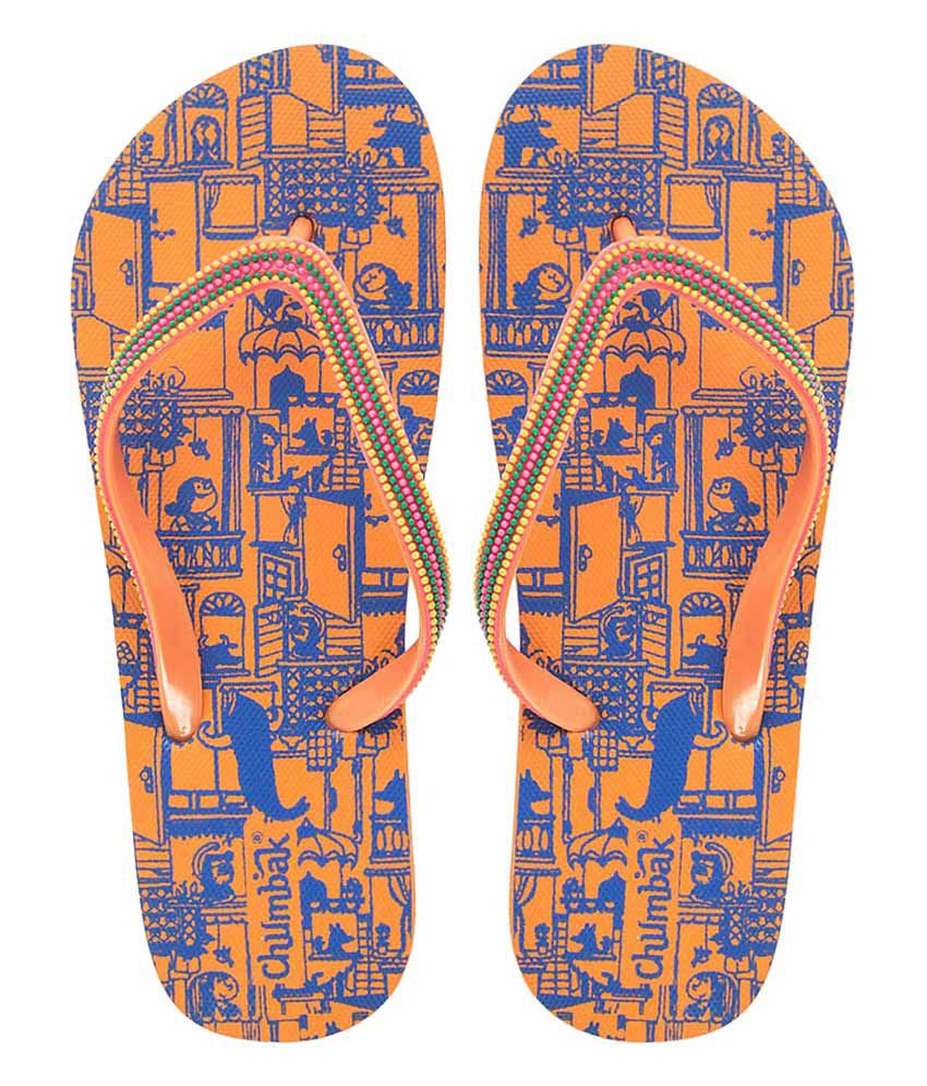 Chumbak Orange Flip Flops