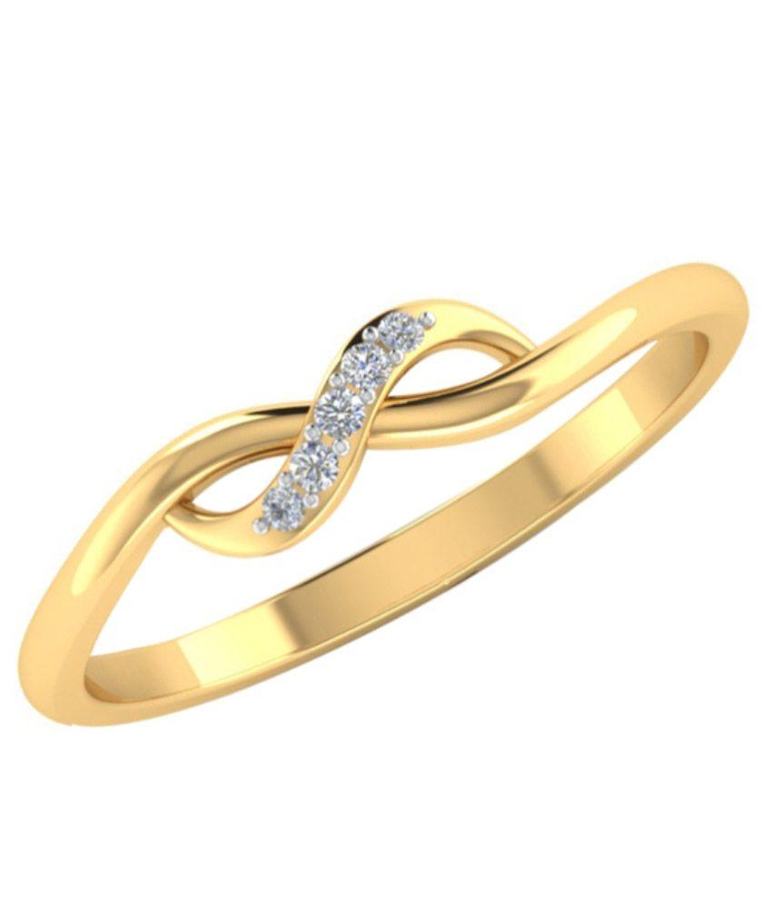 Rosetta 18kt Gold Bis Hallmark Diamond Ring