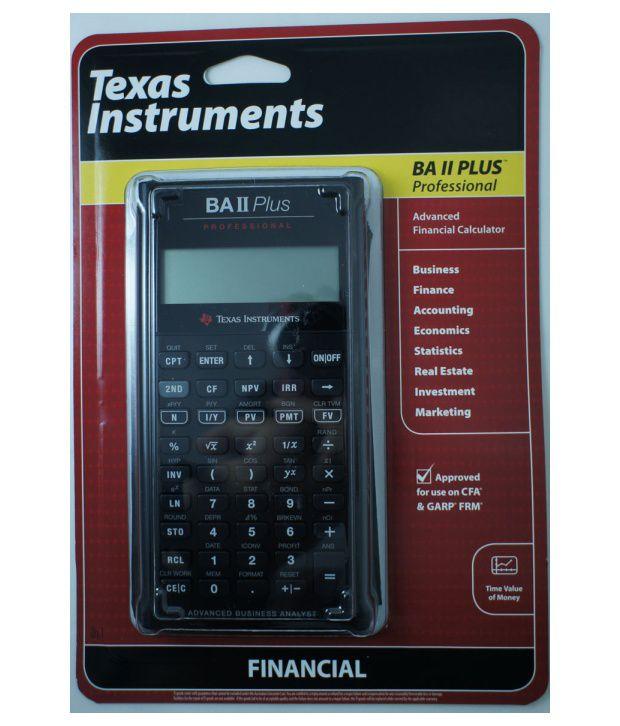 Financial Calculator | Texas Instruments Ba Ii Professional Financial Calculator Buy