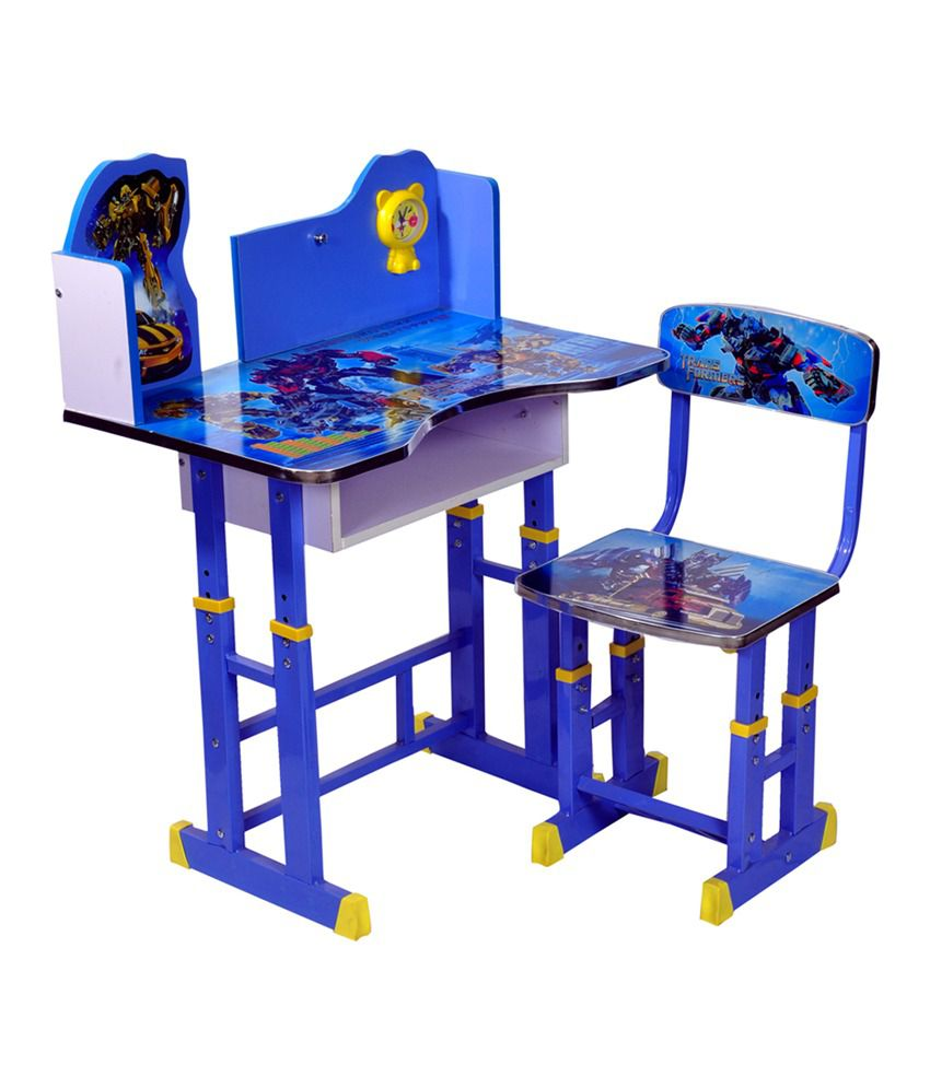 Genial Wood Wizard Transformers Kids Study Table Set ...