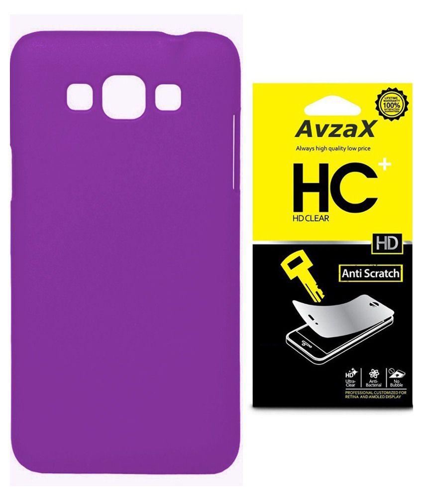 Avzax Back Cover For Samsung Galaxy Core Prime G360-purple With Screen Guard