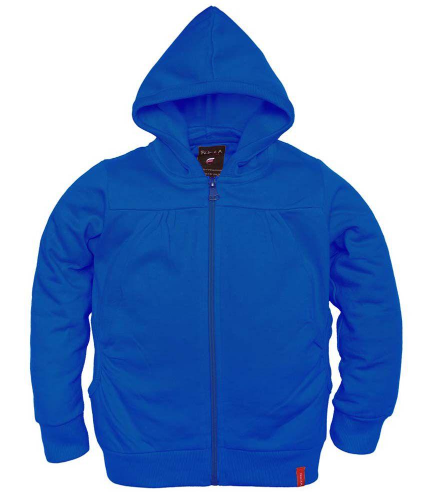 Femea Blue Full Sleeve Fleece Sweatshirt