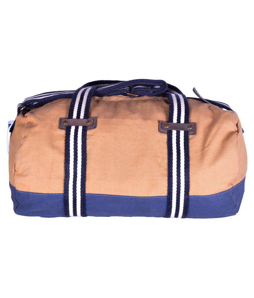 a8eae4f92ed5 Wrangler Wrav1001 Canvas Duffle Bag-beige & Navy Blue