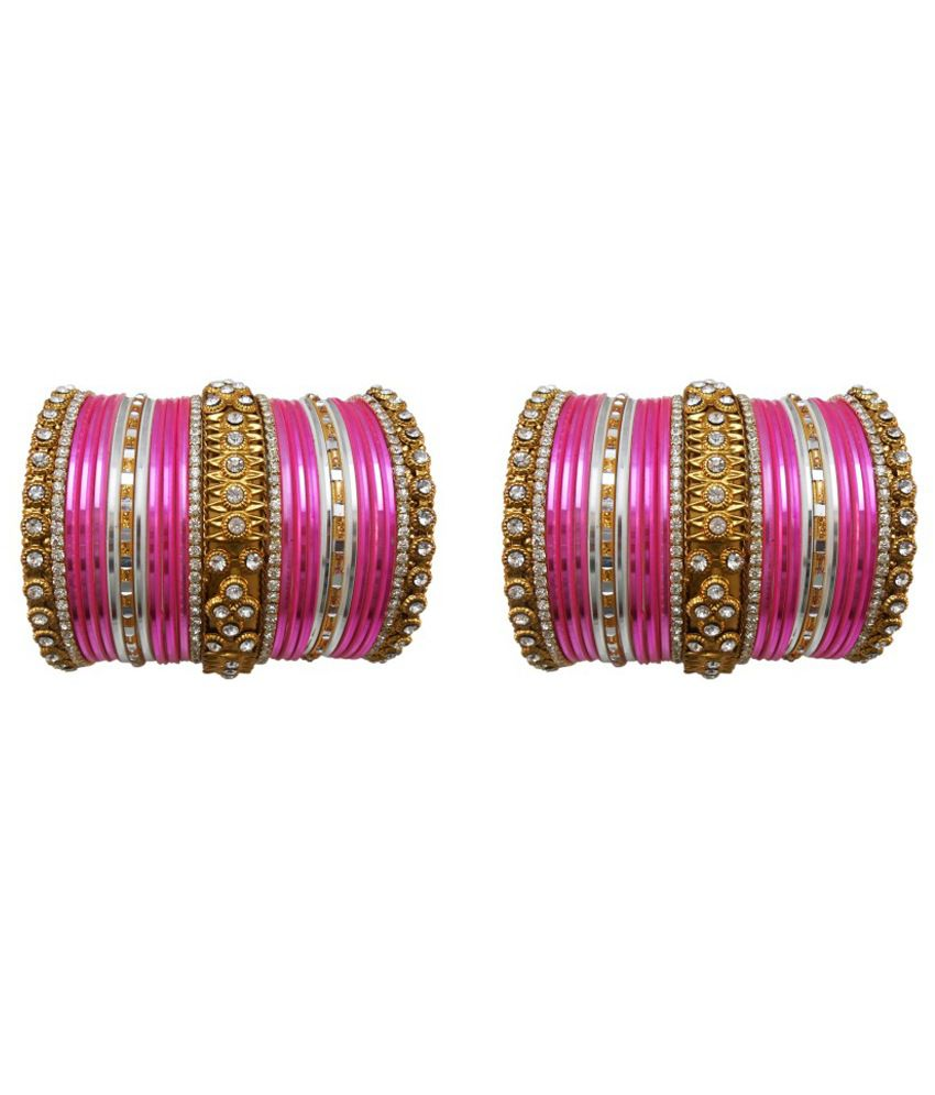 My Design Pink Alloy Bangle