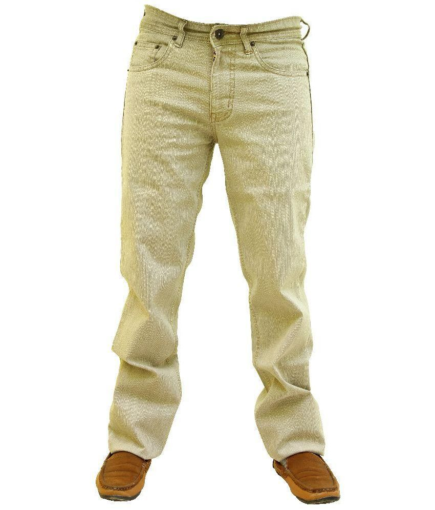 Wabba Beige Regular Fit Jeans