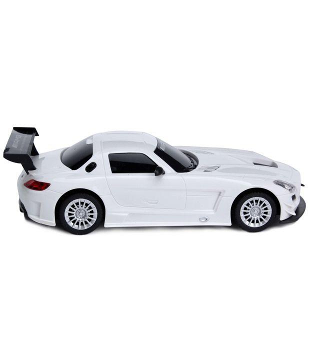 Flipzon Rc Mercedes Benz Sls Amg 1 24 Rechargeable Toy Car White