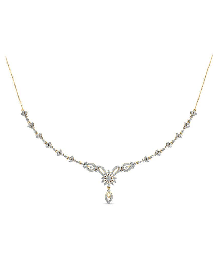 WearYourShine PC Jeweller 18KT Gold The Liraz Diamond Necklace