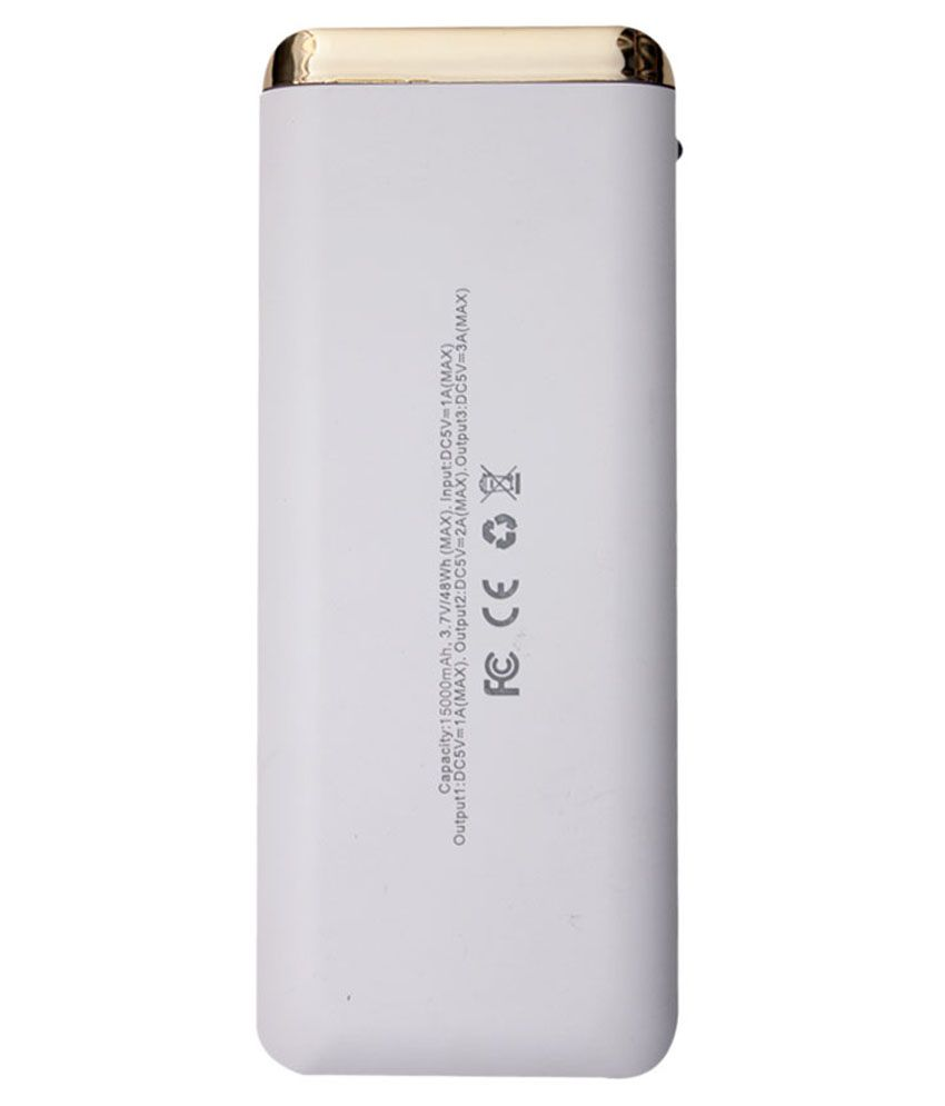 Callmate Chameleon 15000 Mah Power Bank-white & Golden