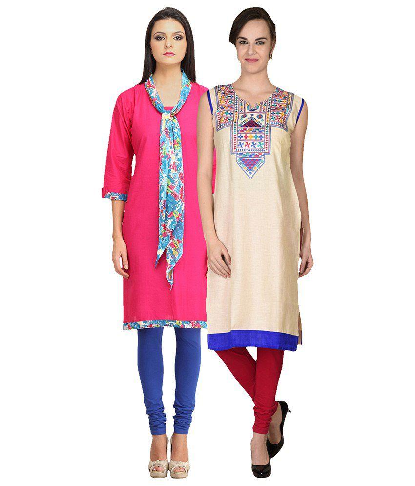 Namaskaar India Multi Color Cotton Kurti