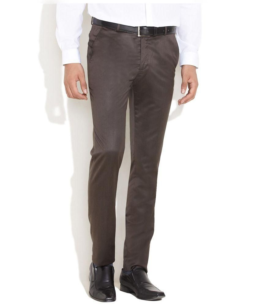 Wajbee Brown Chino Trousers