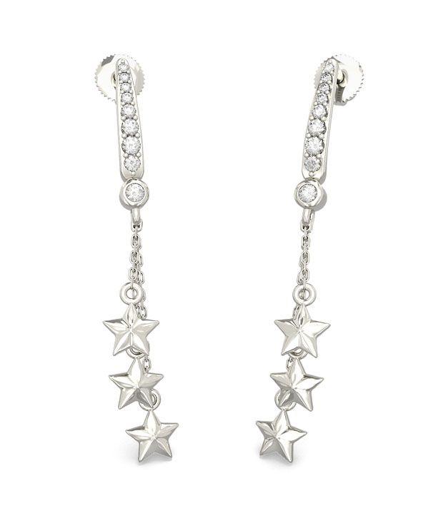 BlueStone 18K Yellow Gold Diamond Estee Earrings