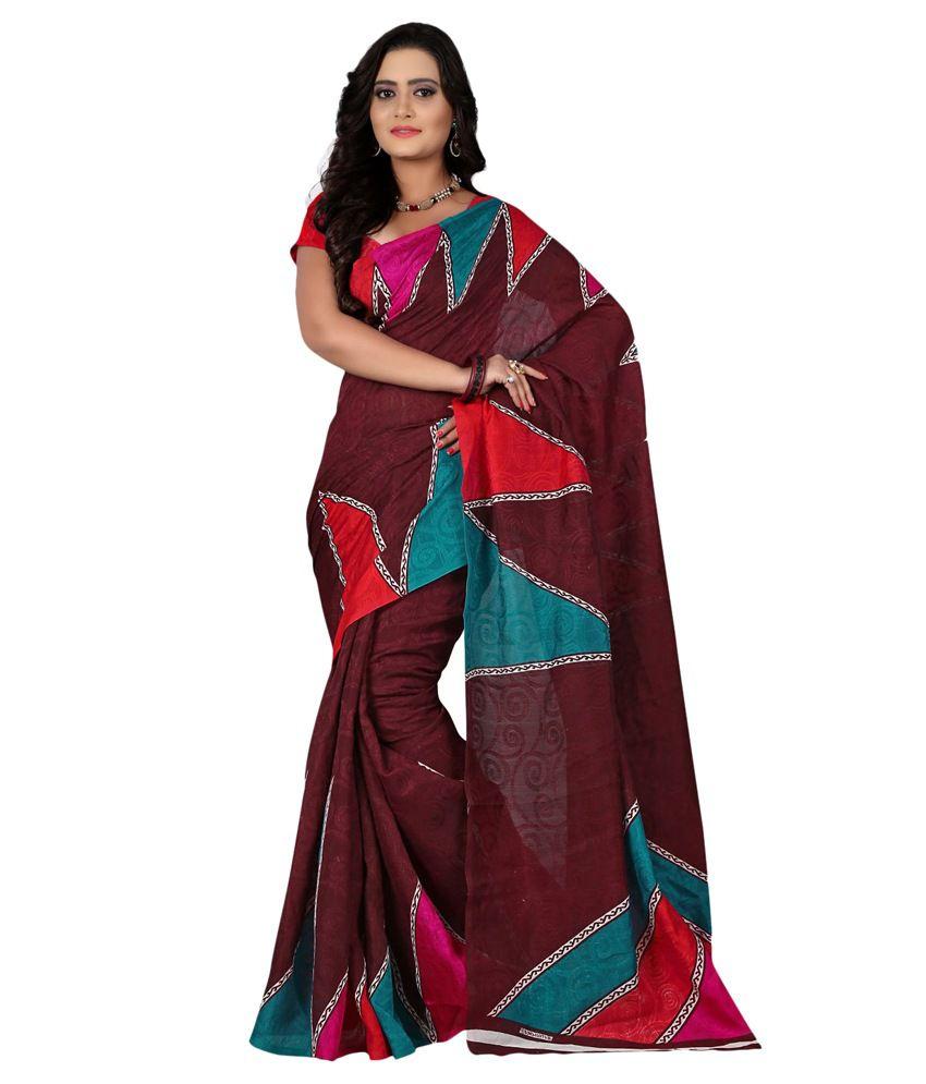 Patankarfab Brown Silk Saree