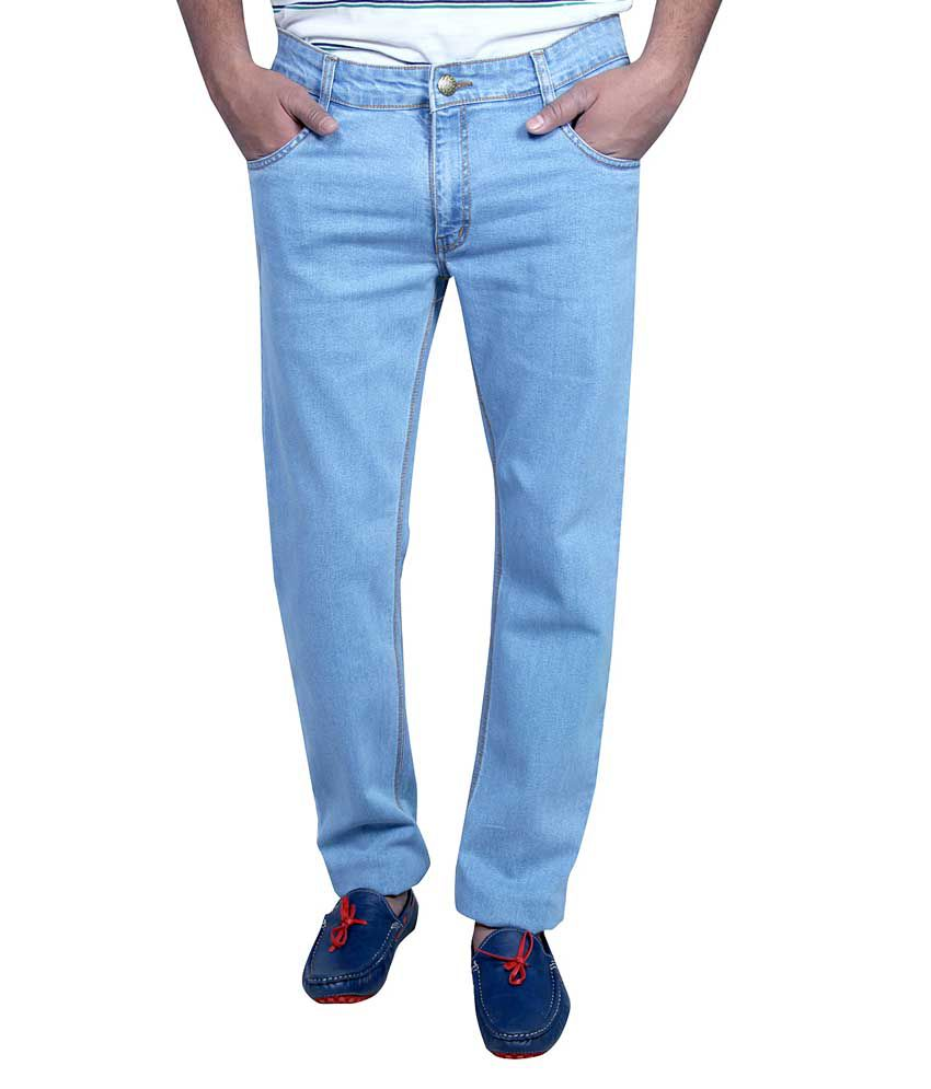 Routeen Blue Regular Fit Jeans
