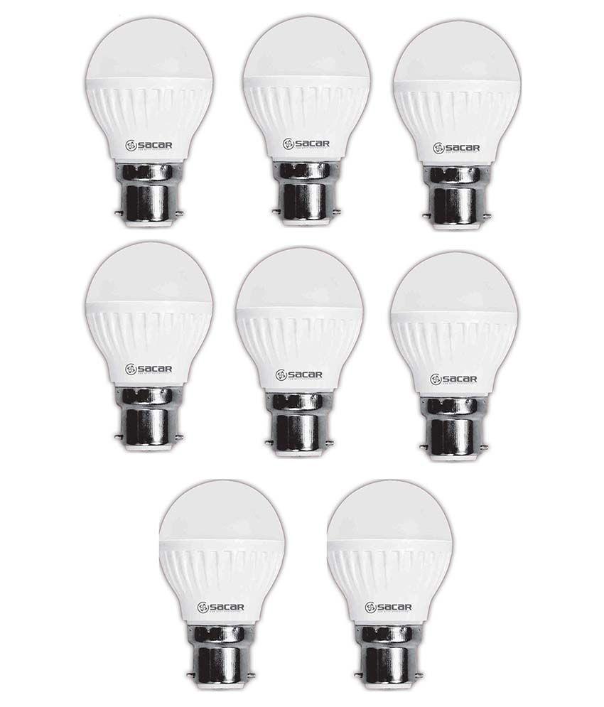 Sacar 9w Led Bulb Pack Of 8-white