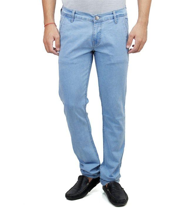 Haltung  Blue Cotton Regular Fit Denim Jeans