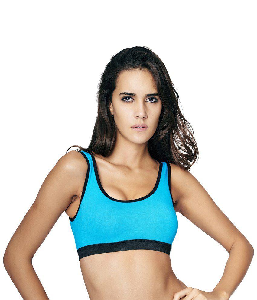 Restless Blue Stretchable Sports Bra