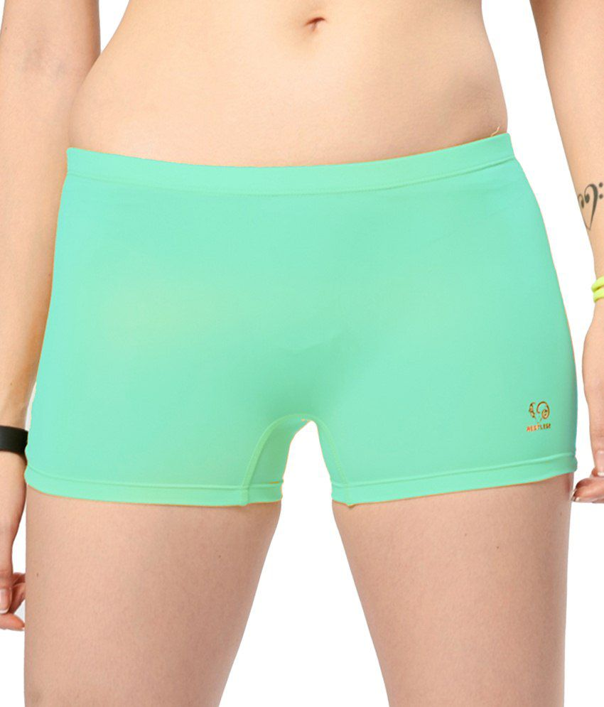 Restless Green Stretchable Shorts
