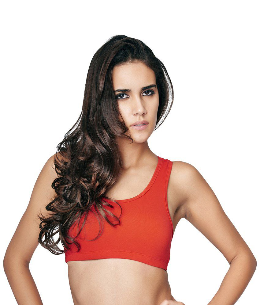 Restless Red Stretchable Sports Bra