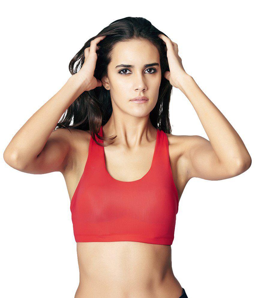 Restless Red Stretchable Sports Bra Gym Wear Women/Tight Women/Yoga Dress