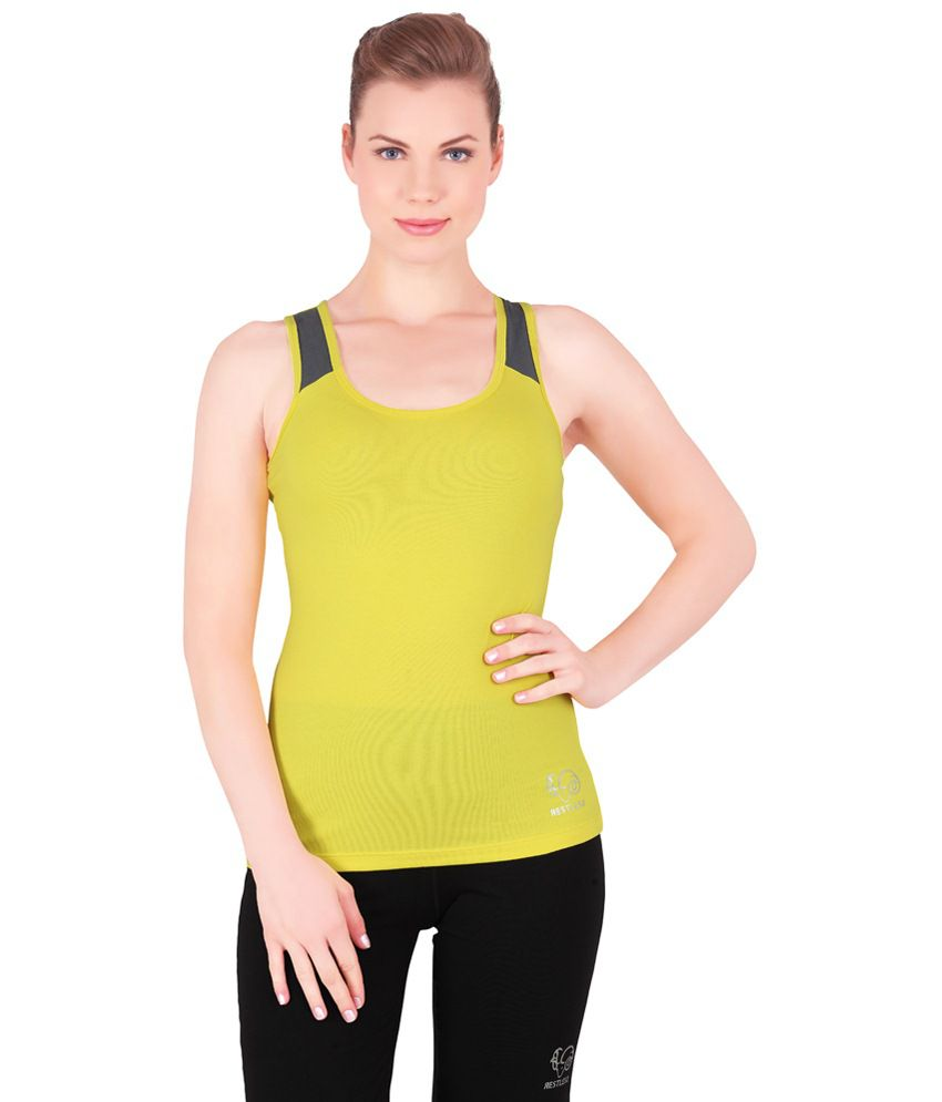 Restless Yellow Stretchable Singlet
