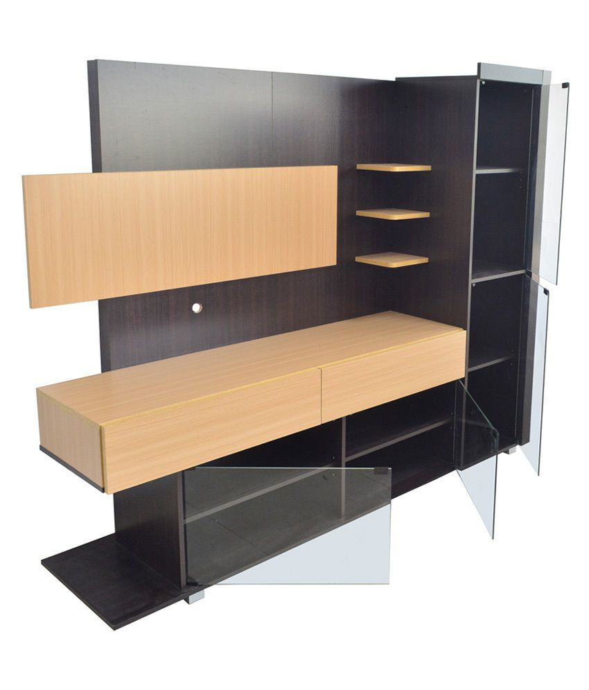 Eros TV Wall Unit cum Display Cabinet Table - Buy Eros TV Wall Unit ...