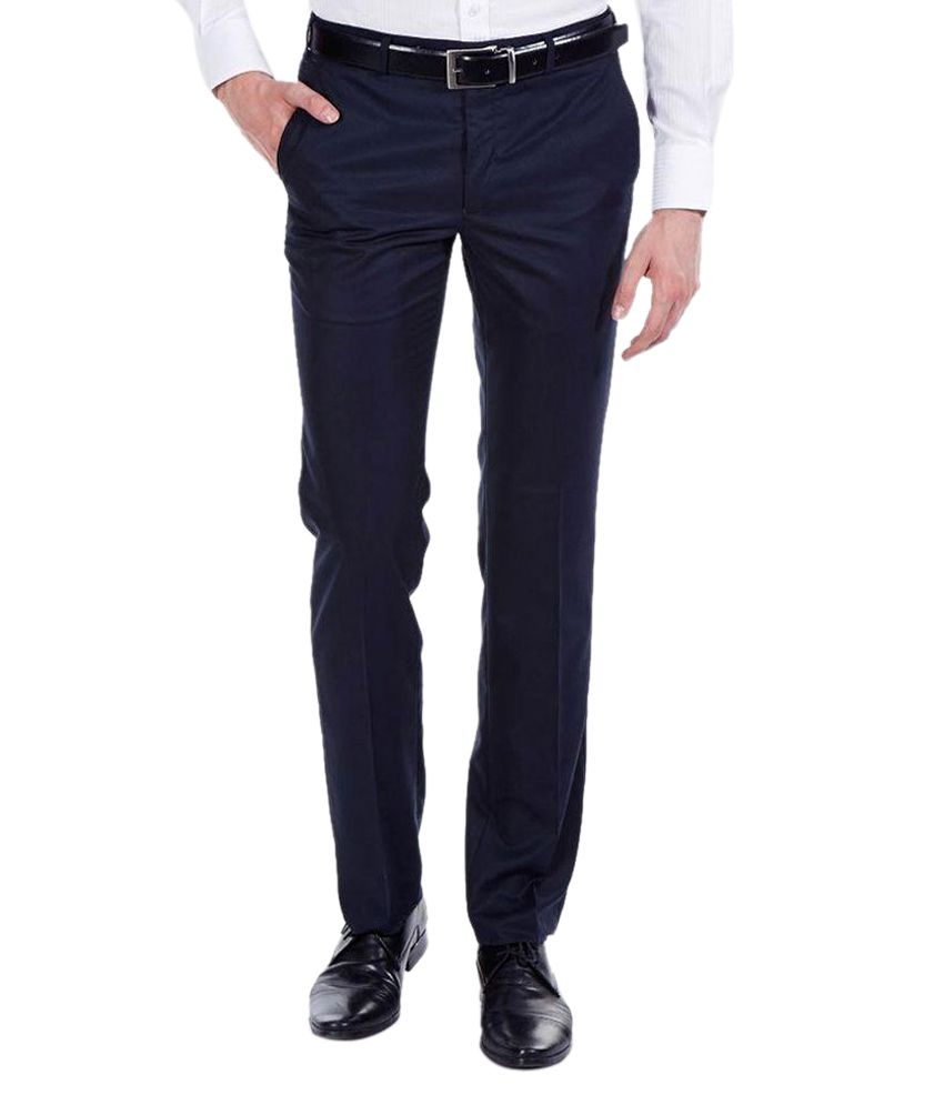 Jhon Diego axe Navy Regular Fit Formal Trouser