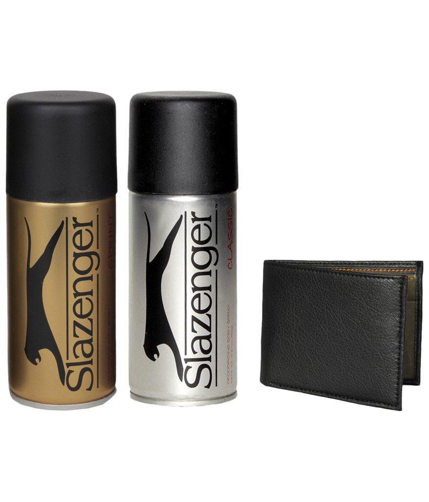 Slazenger Mens Body Spray (Gold, Silver) - 150 ml each with...