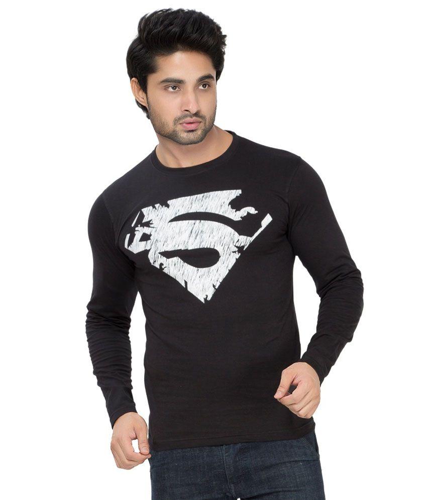 Alan Jones Clothing Black Cotton T-shirt