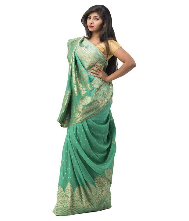 1a3dcde94 Ghatkopar Cloth Stores Next Green Viscose Saree - Buy Ghatkopar Cloth  Stores Next Green Viscose Saree Online at Low Price - Snapdeal.com